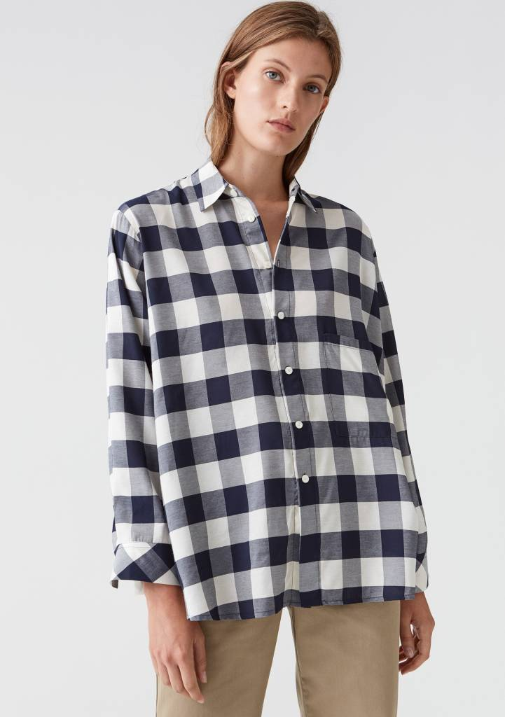 Elma shirt dark navy check