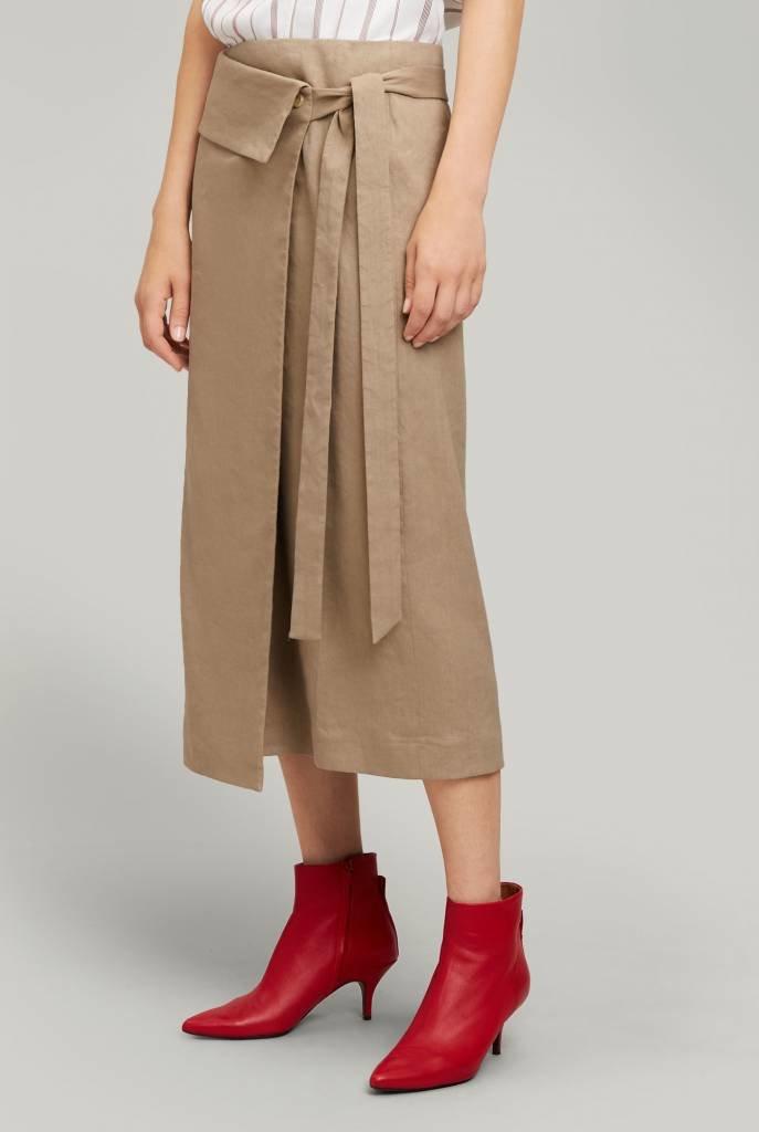 Finch Linen Stretch skirt beige