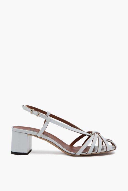 Loulou sandal white gloss