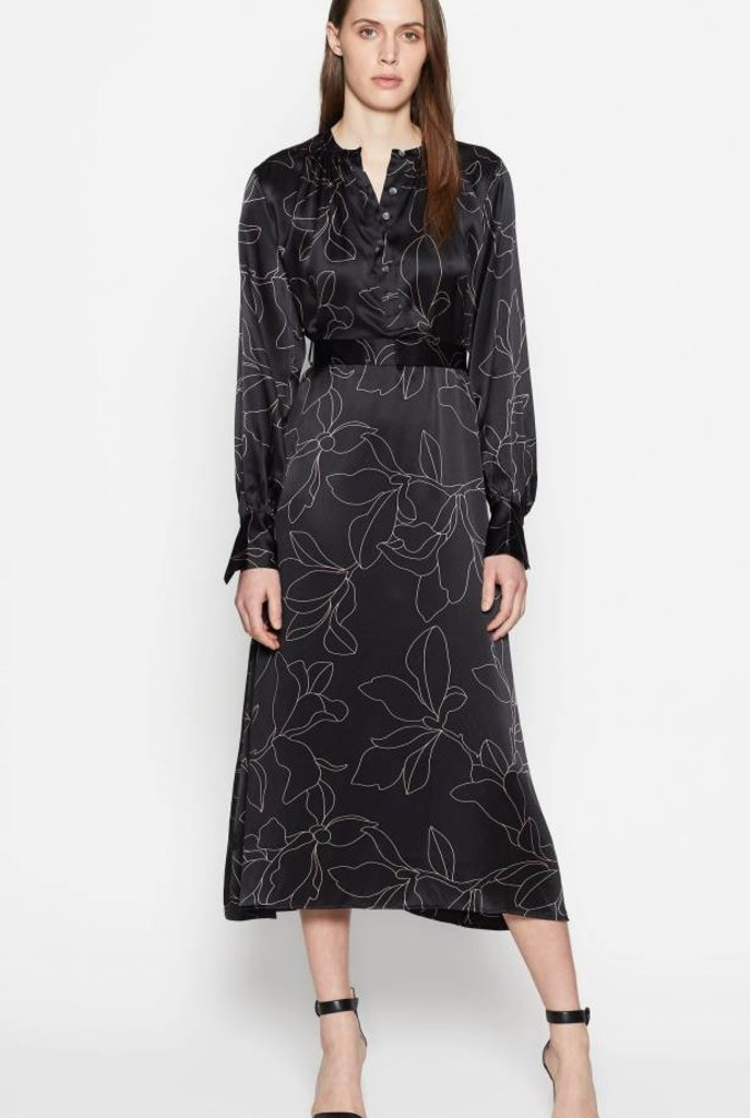 Alowette dress  true black flamant rose