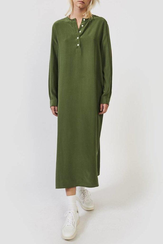 Oman dress moss green