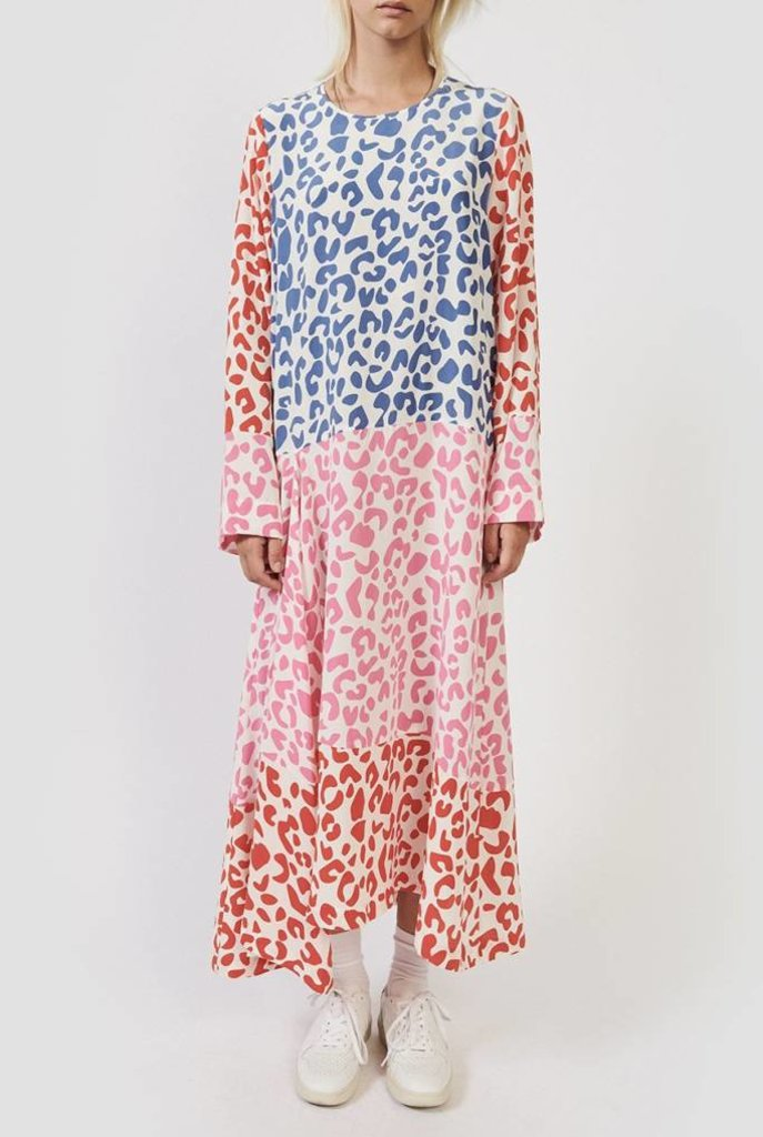 Harvey dress leo print mix