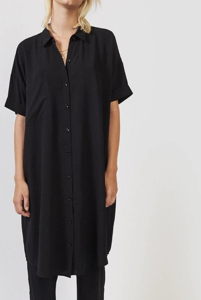 Daisy shirt dress navy