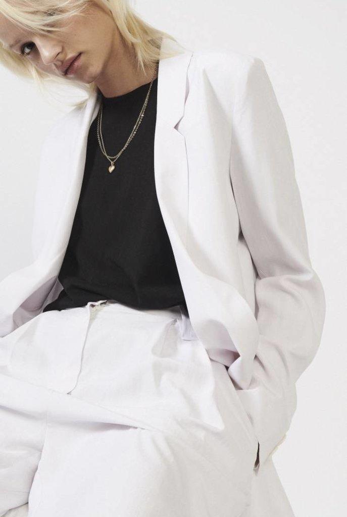 Oxford blazer white rose