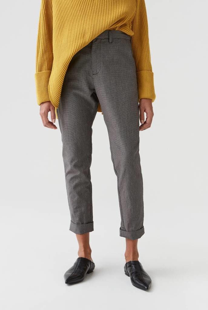 News trouser grey dogtooth