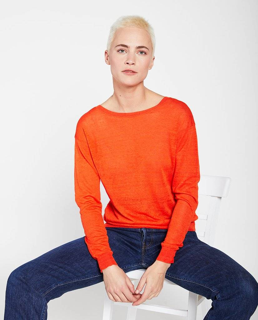 Lin pull sweater poppy red