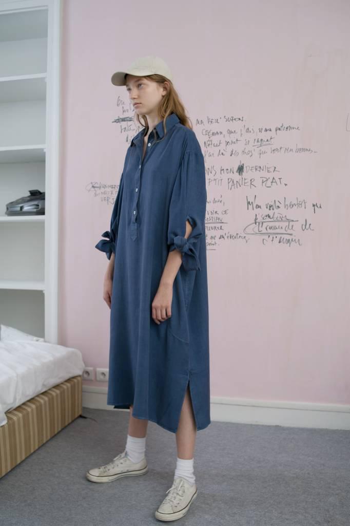 Karine dress blue storm