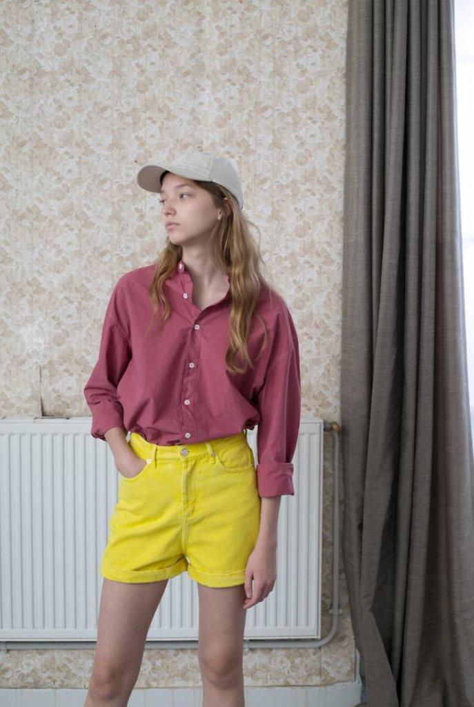 Angie denim shorts lemon