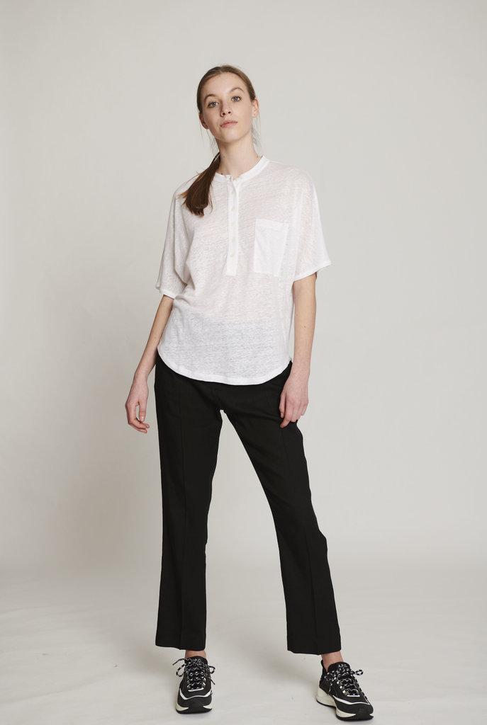 Moroccan neck t-shirt white