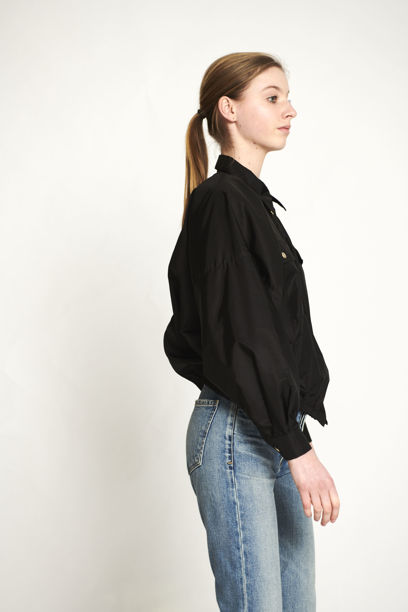 Puffed jacket black
