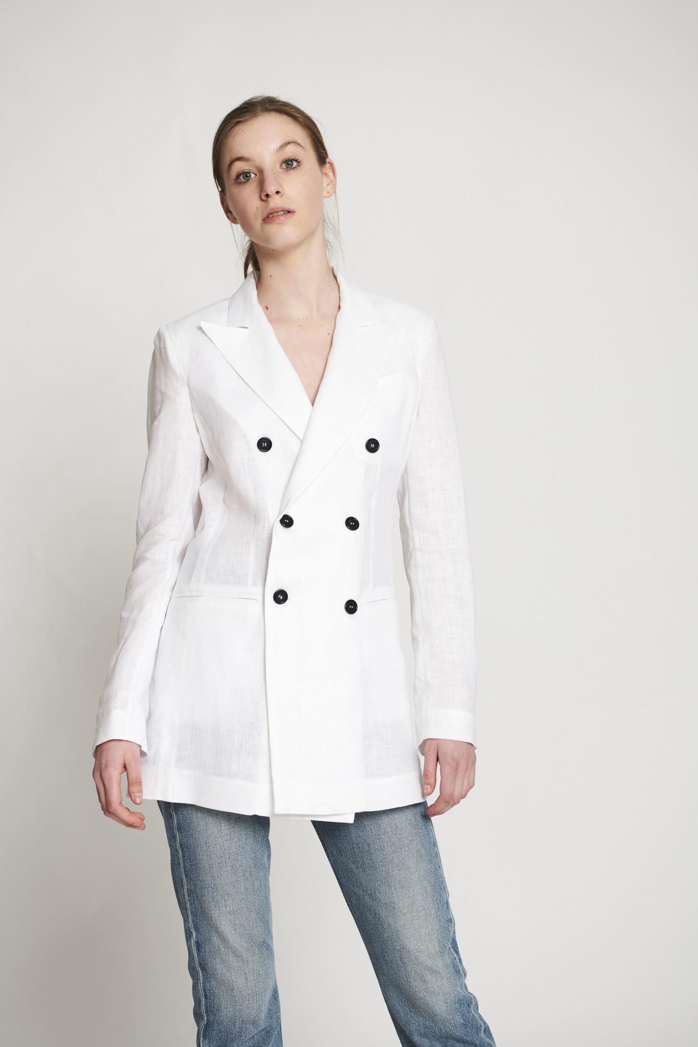 Linen blazer white