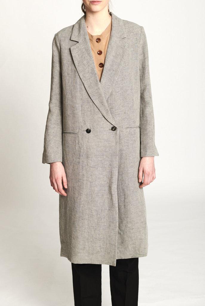 light grey coat
