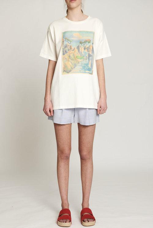 Imprime t-shirt white