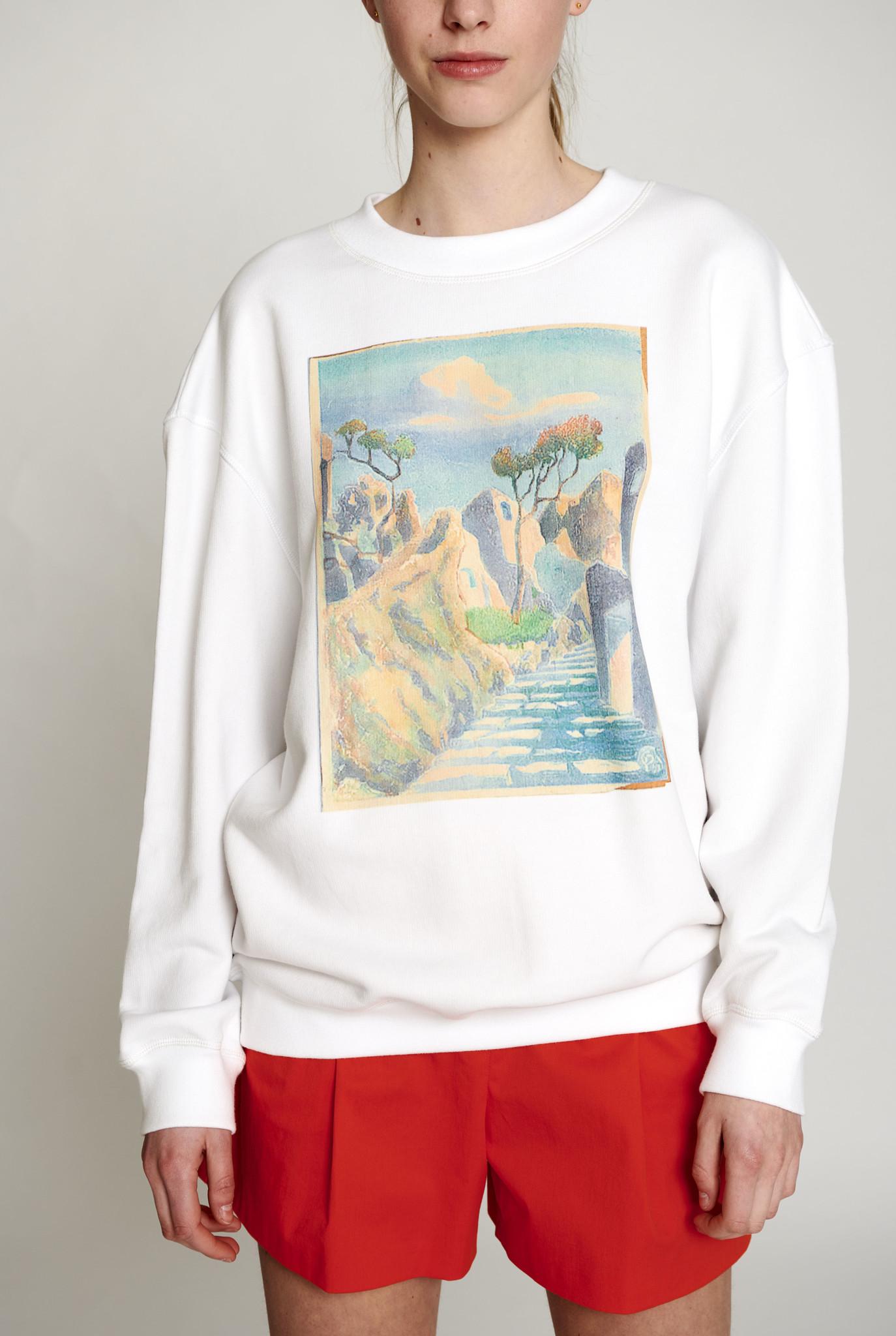 Imprime sweater white