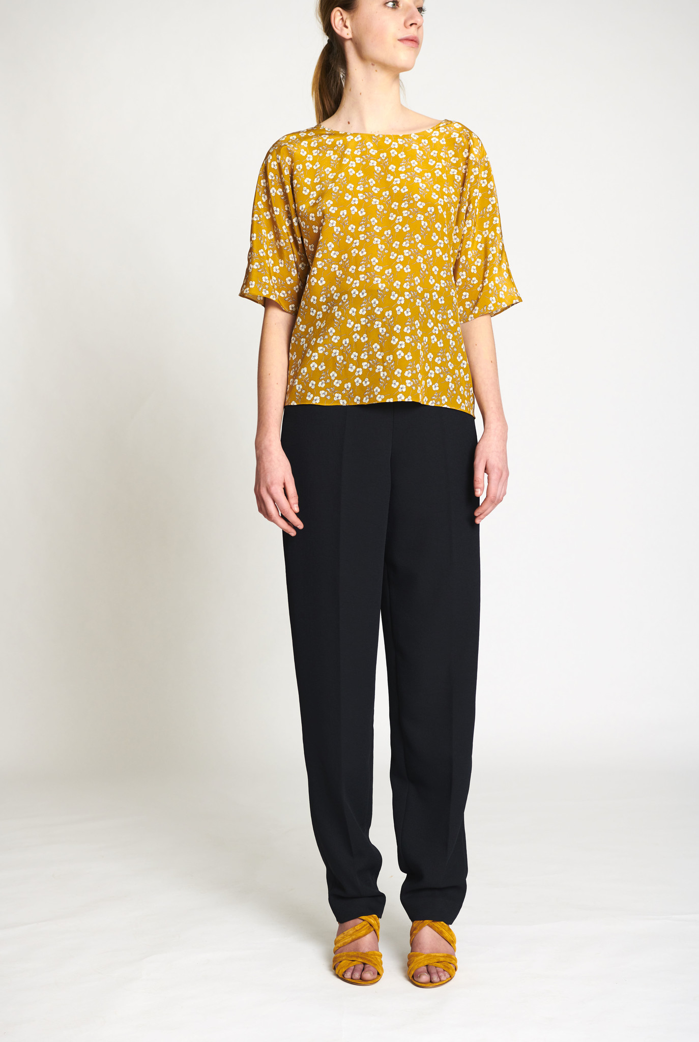 Giuli blouse Ocre print