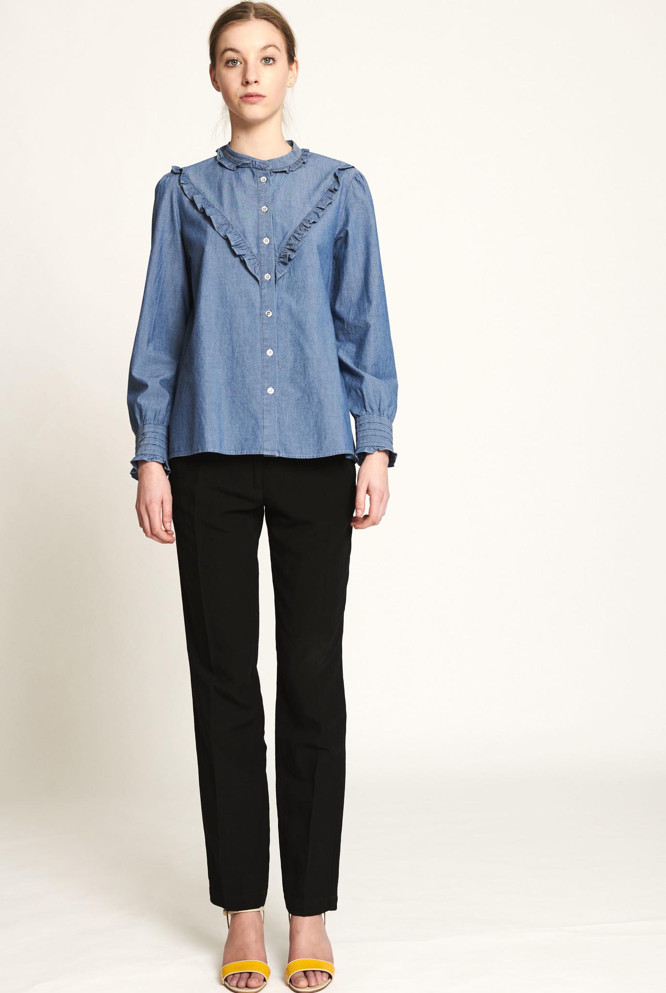 Polly blouse indigo