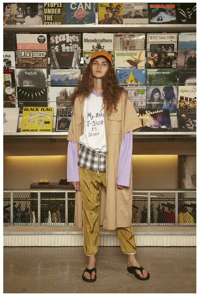 Yellow tracking trousers