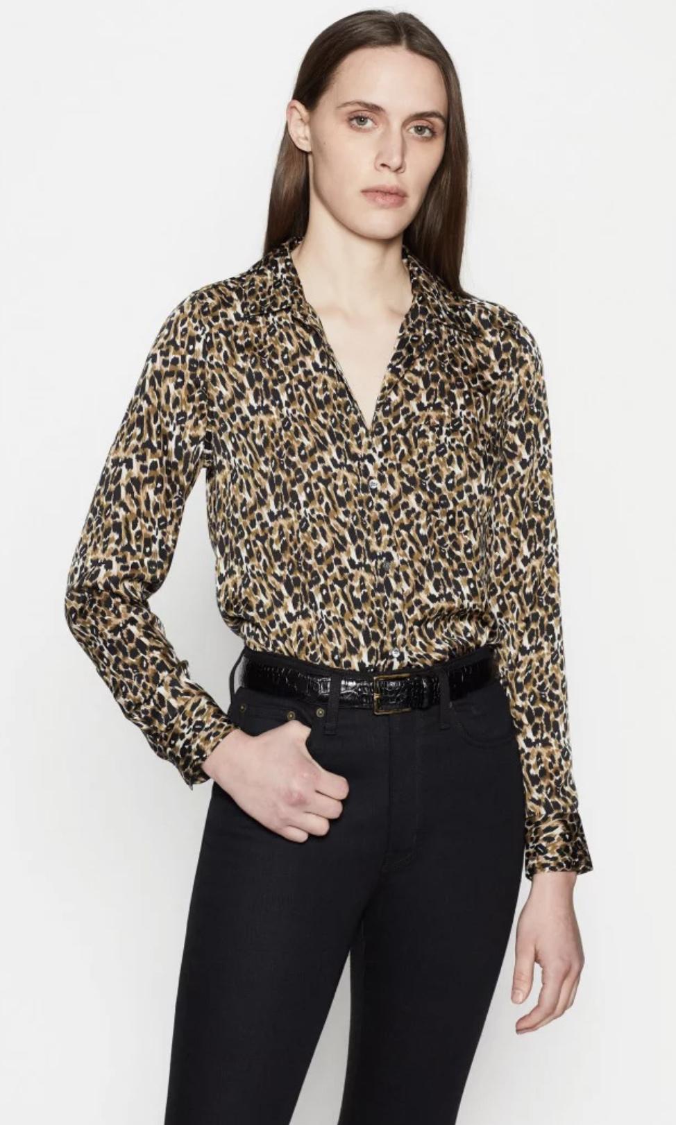Brett blouse Green panther