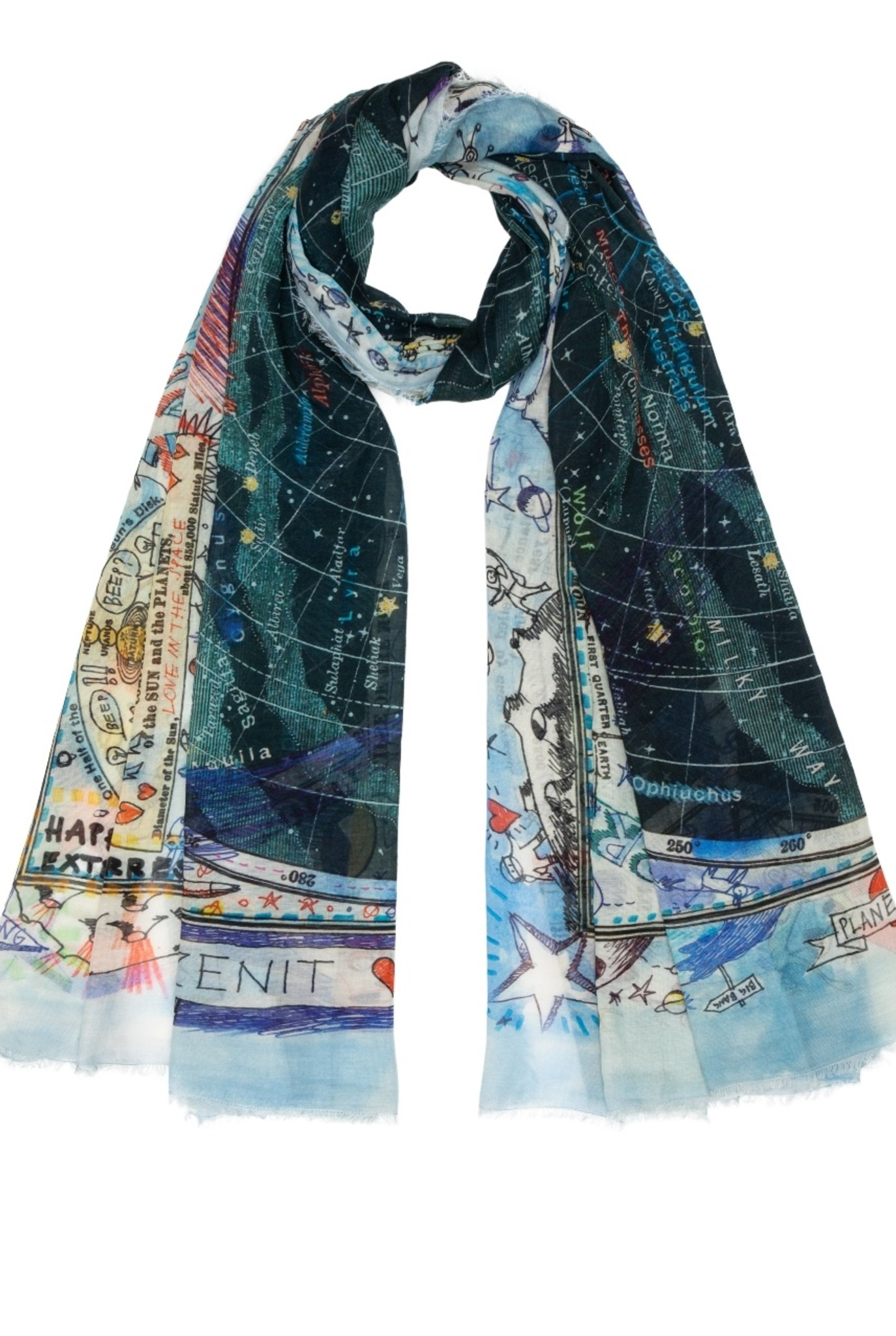 Planet heart scarf