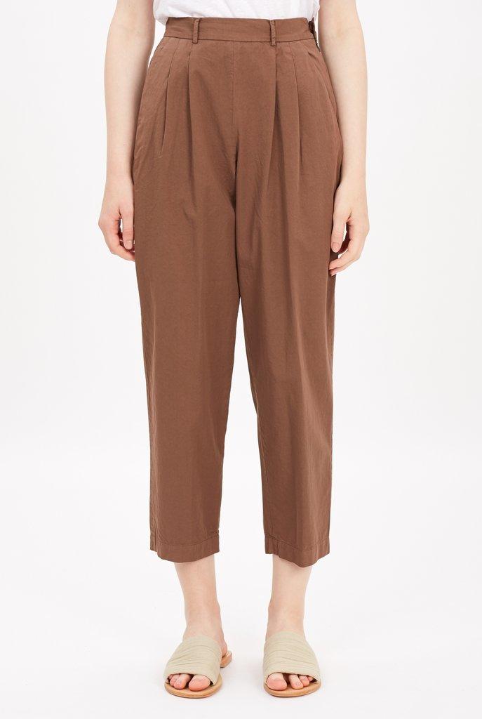 High waist straight trouser Mocha