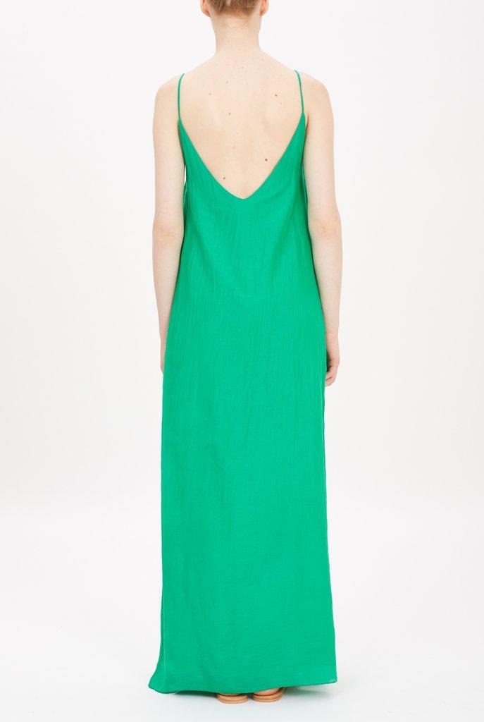 Slip dress forest green
