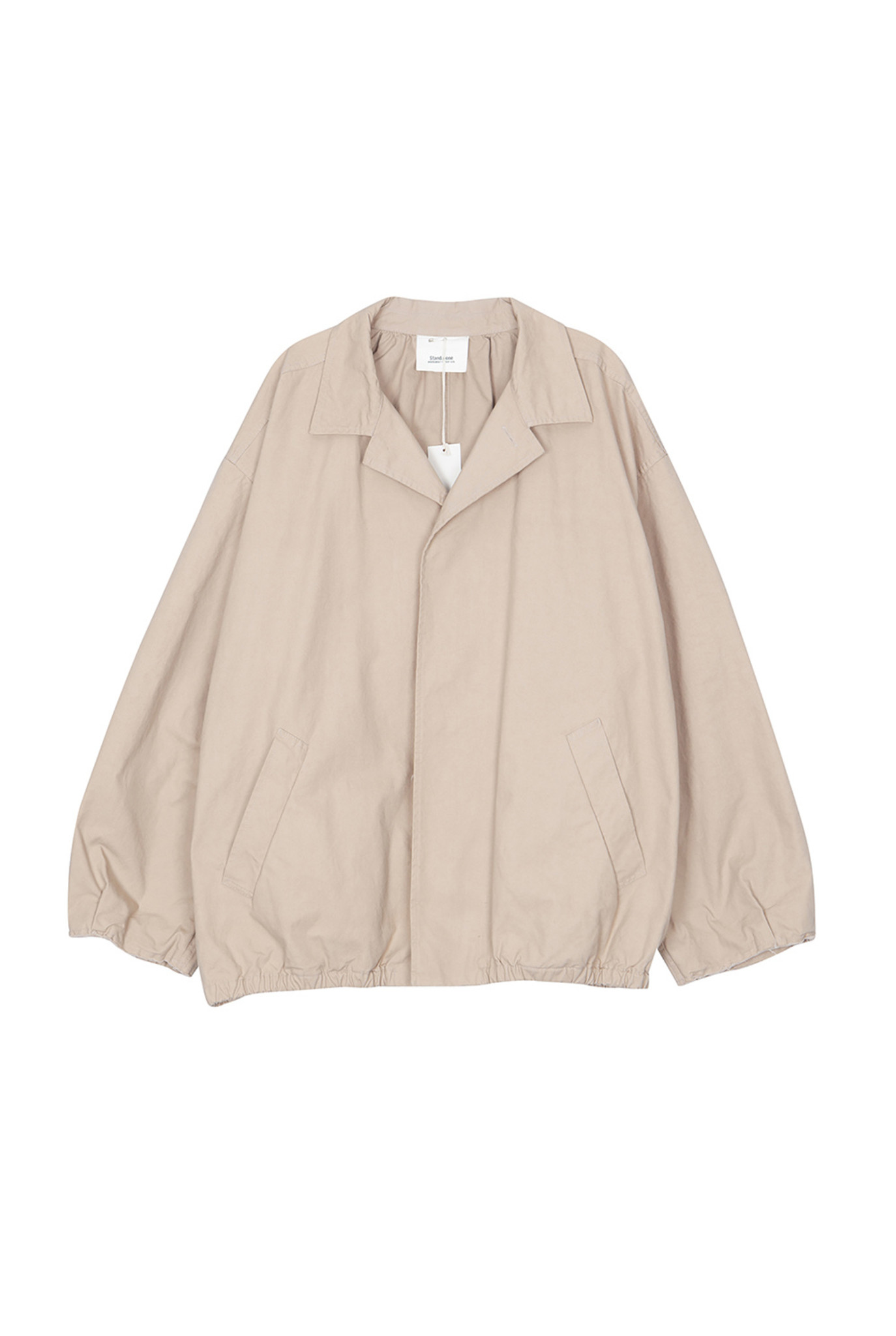 Trench jacket beige and red check