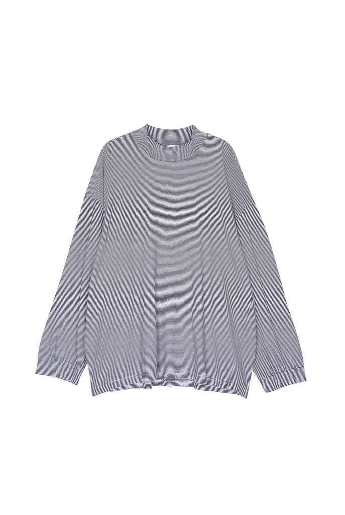 Thin stripe t-shirt black white