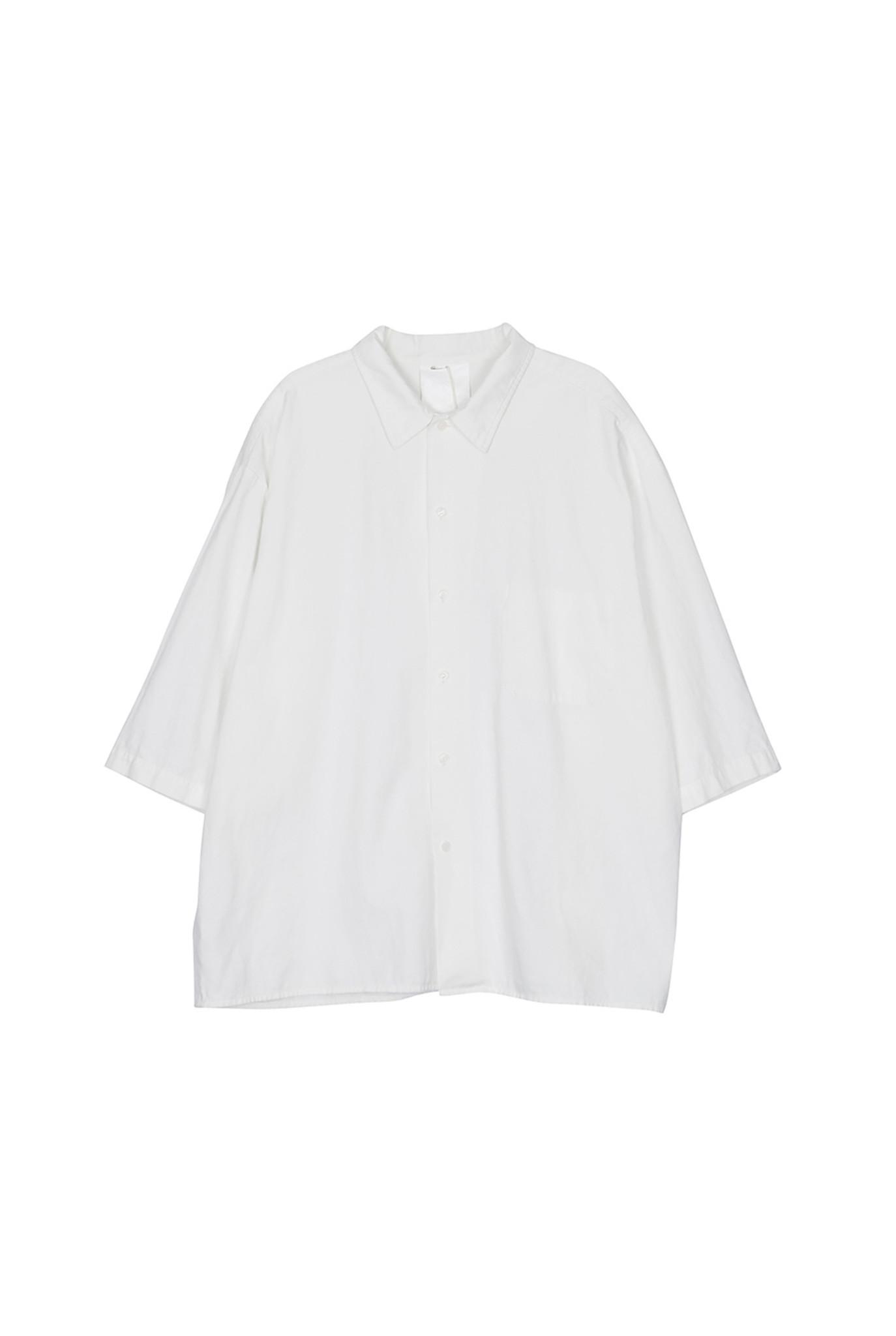 Short sleeve cotton shirt white