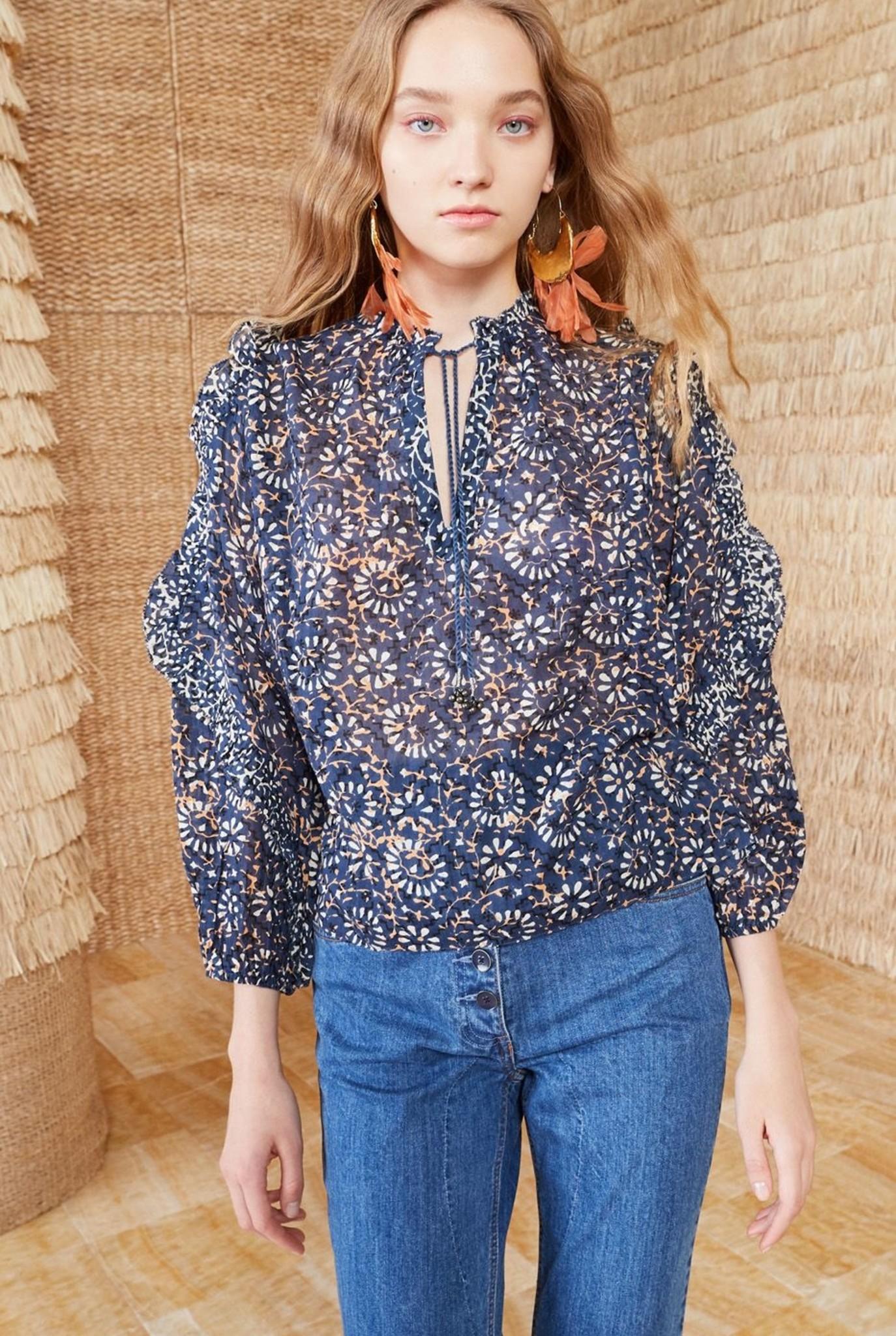 Lillian blouse azul