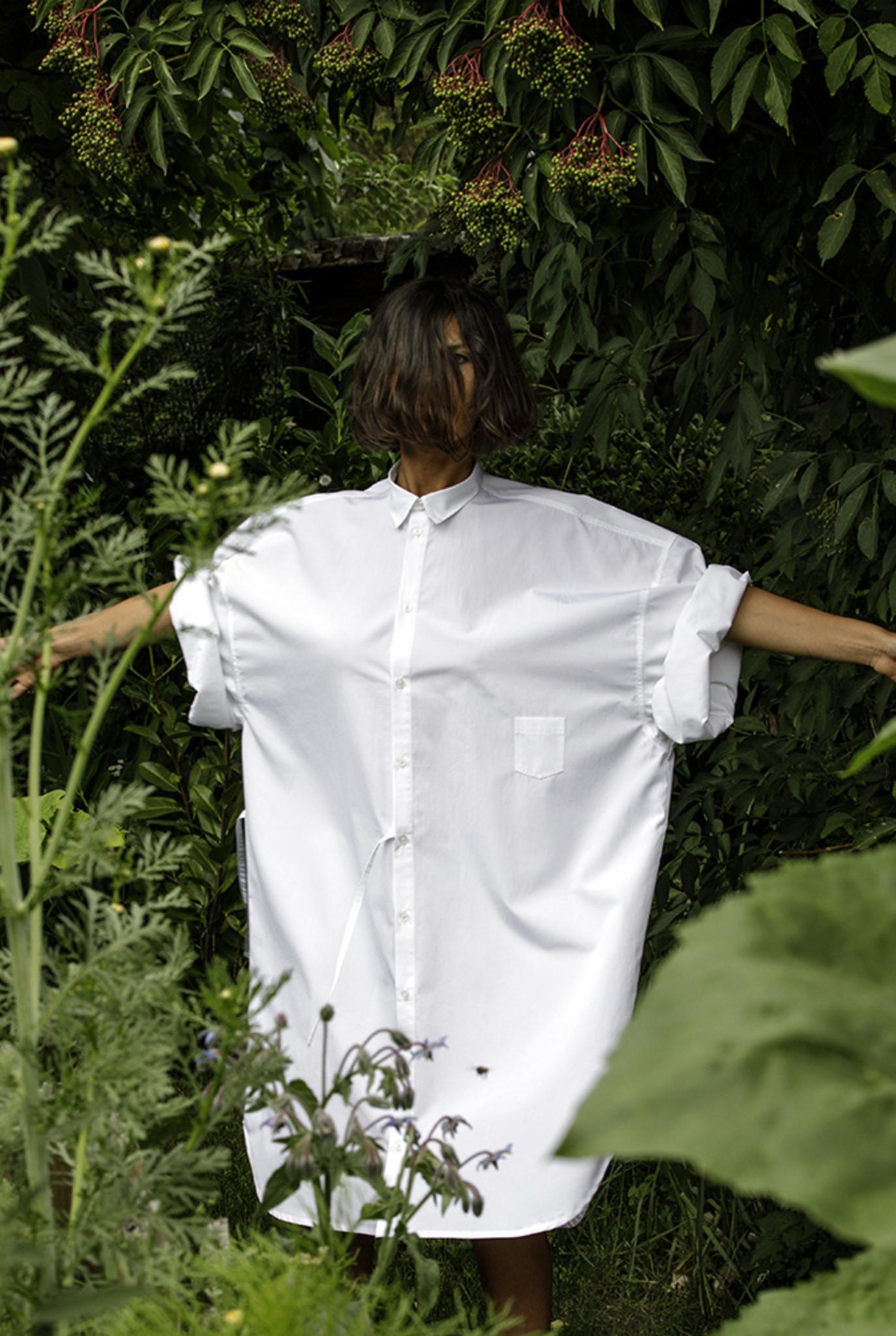 No 10 shirt white cotton
