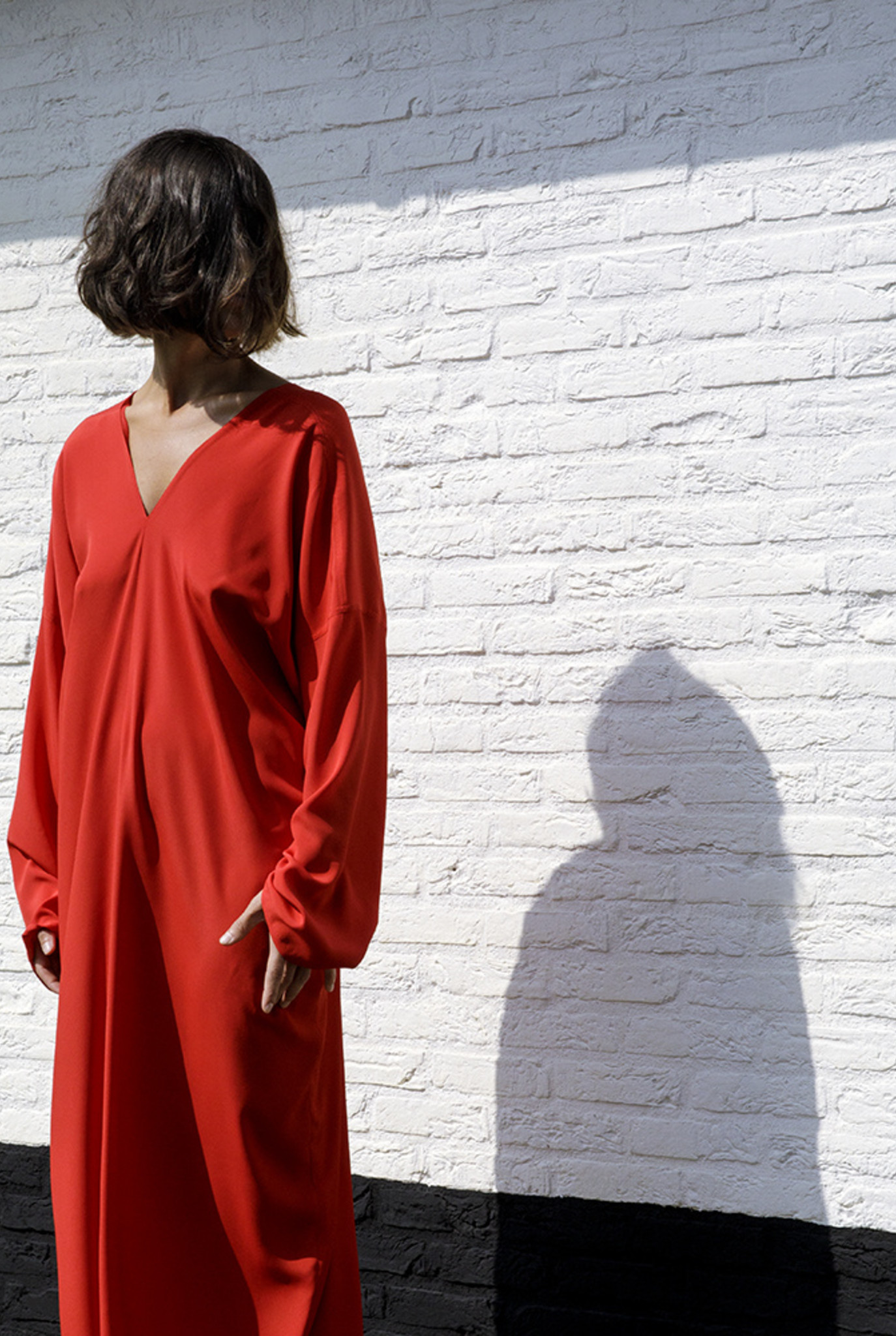 Tunicdress XL red silky