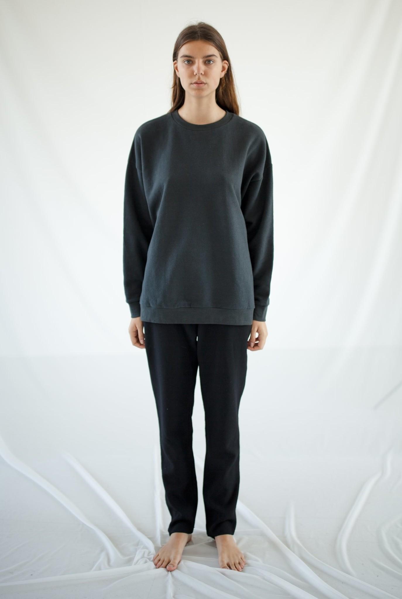 Oversized sweatshirt caviar