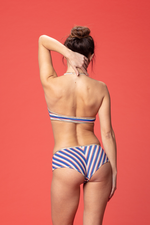 Georgia shorty lurex stripes