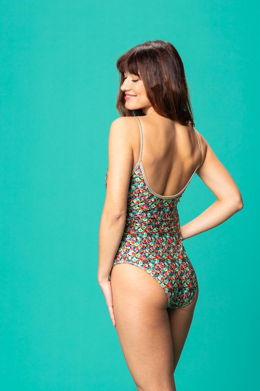 Bridget swimsuit flowers