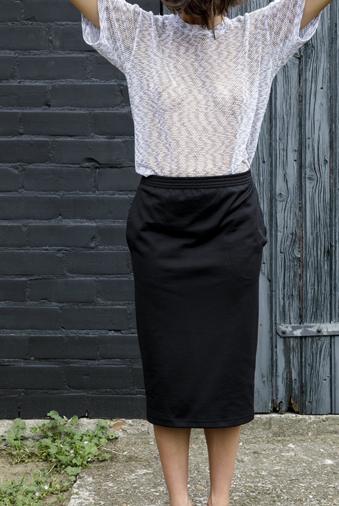 Linda skirt black lycra