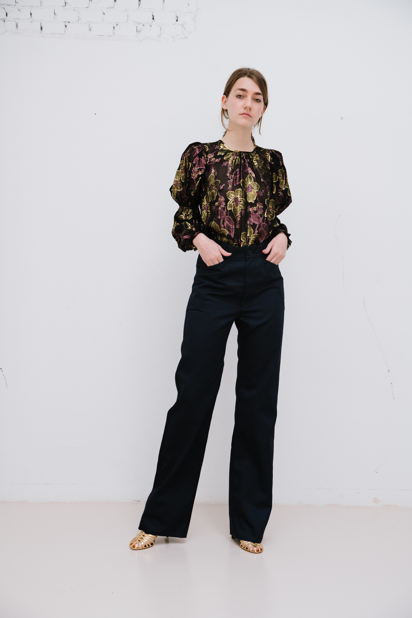 Aster blouse obsidian