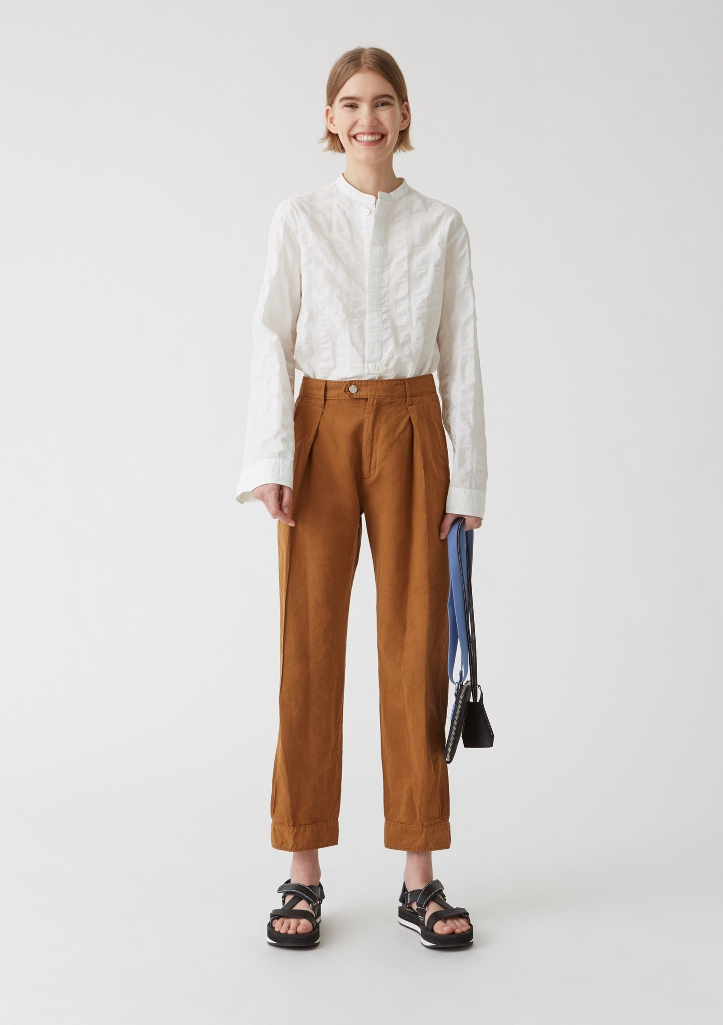 Terra trouser clay brown
