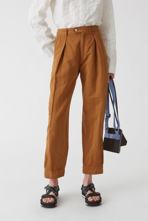 Terra trouser clay brown