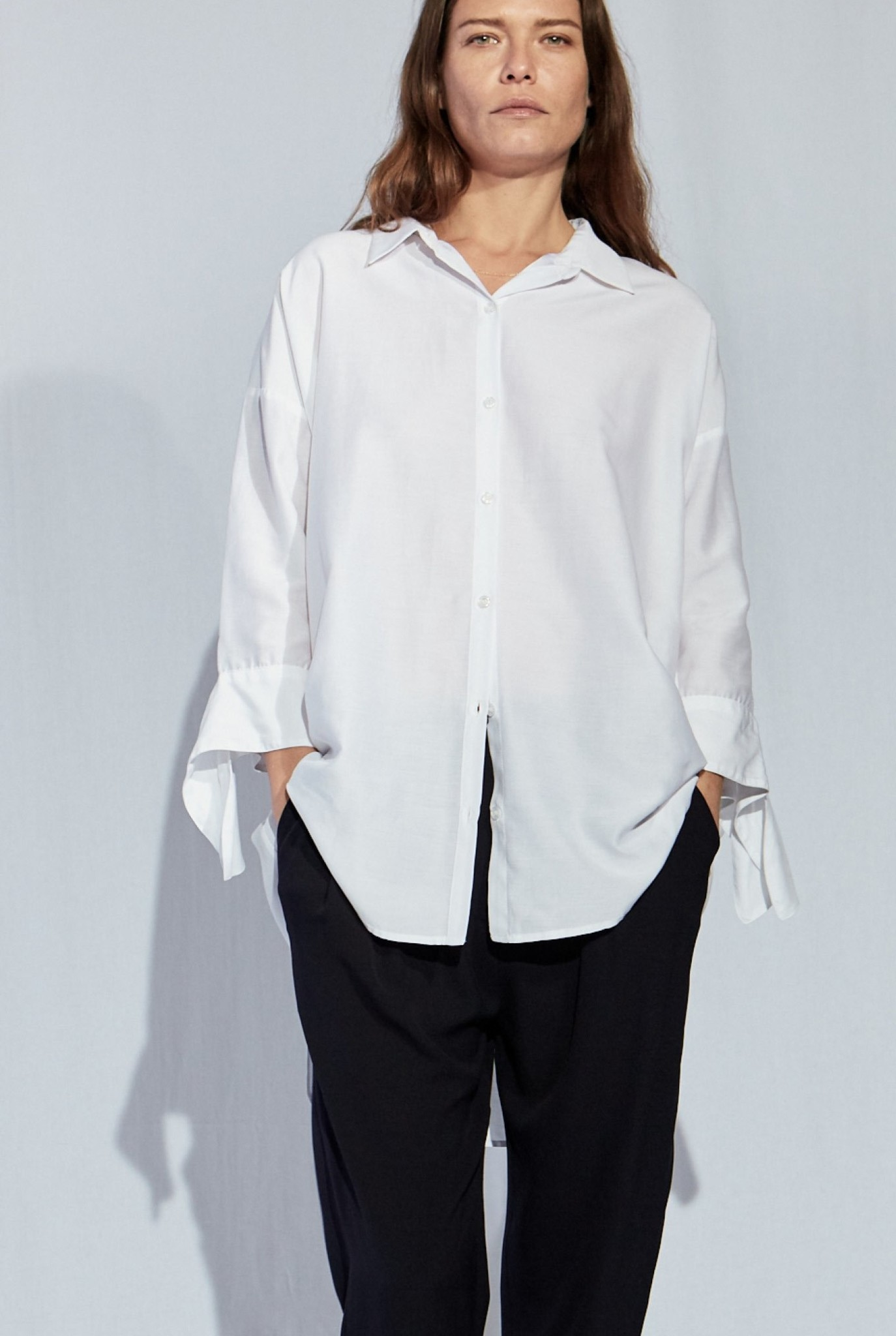 Bianca Bow shirt white