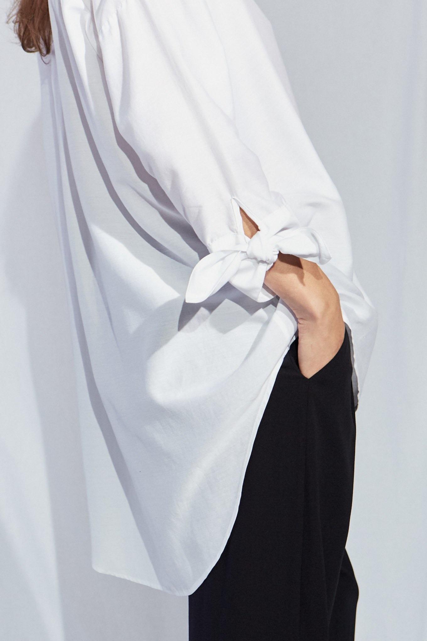 Bianca Bow shirt white