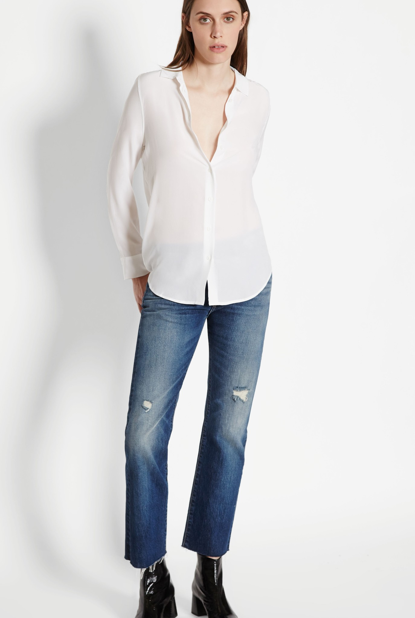 Essential blouse bright white