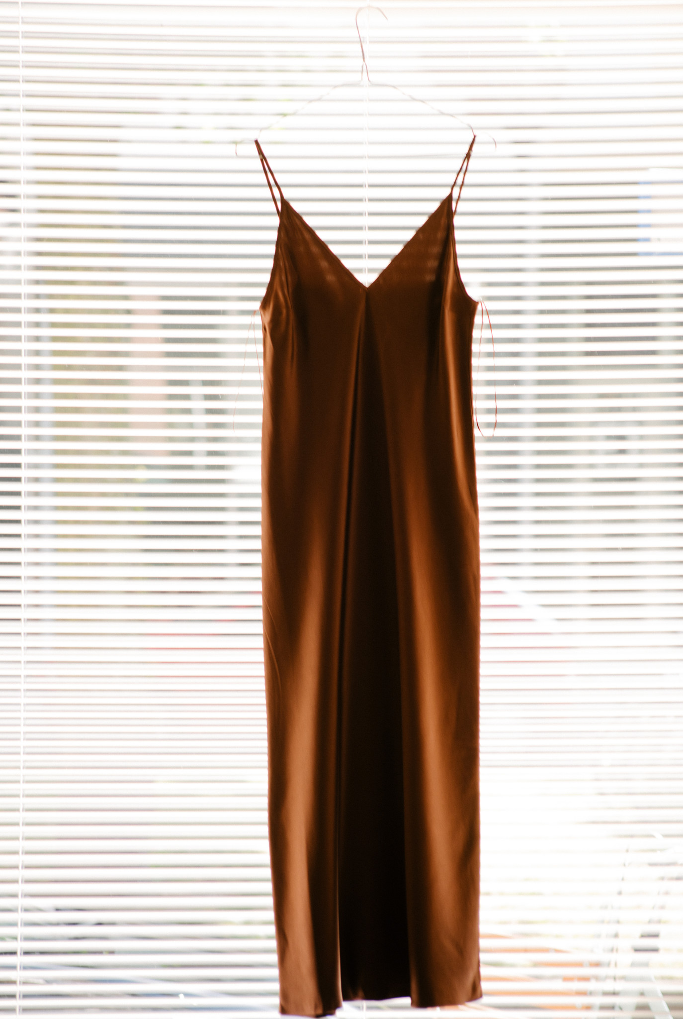 Clea dress burgundy brown