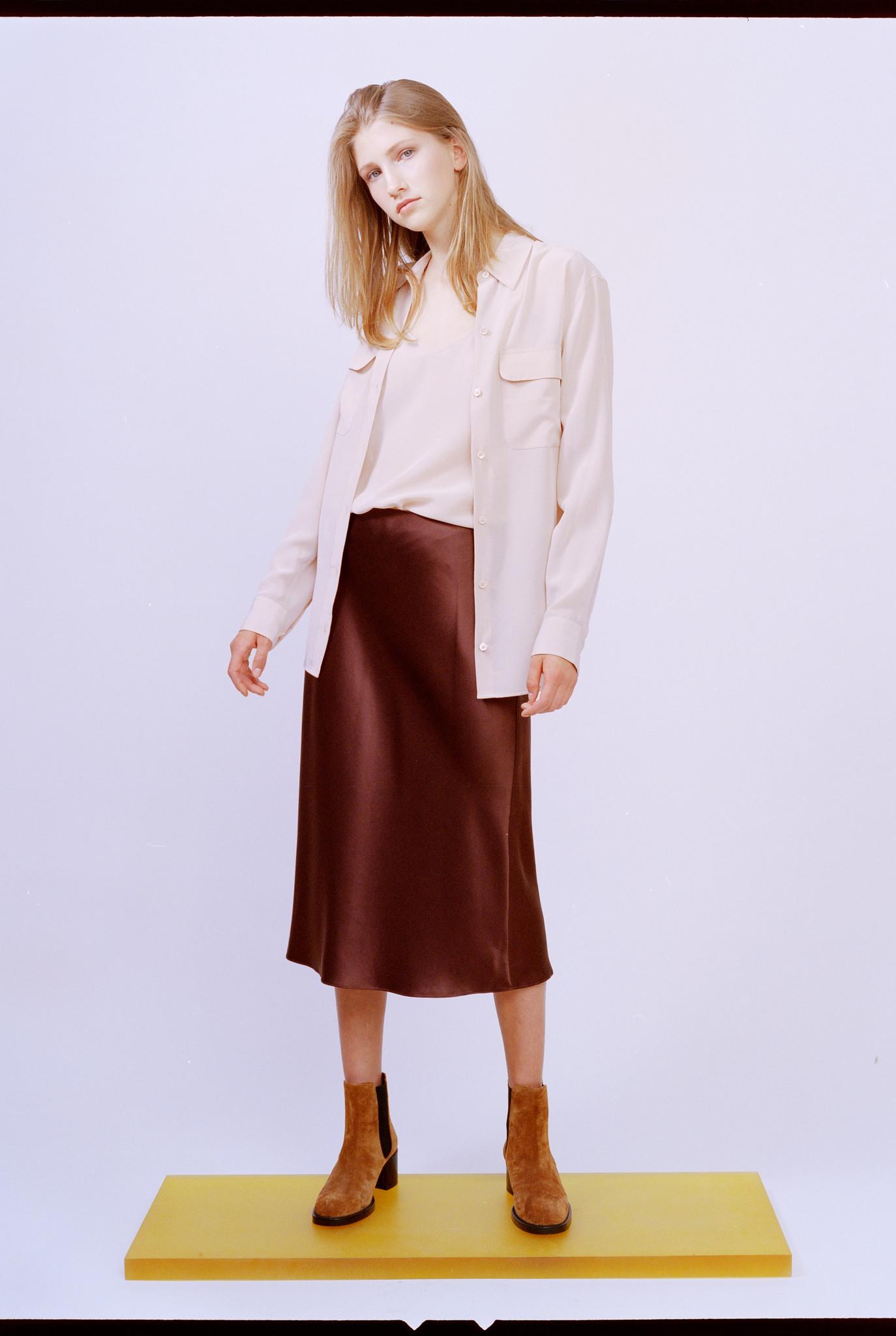 Frances skirt burgundy brown