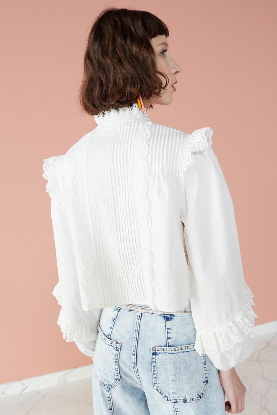 Adelaide blouse Blanc