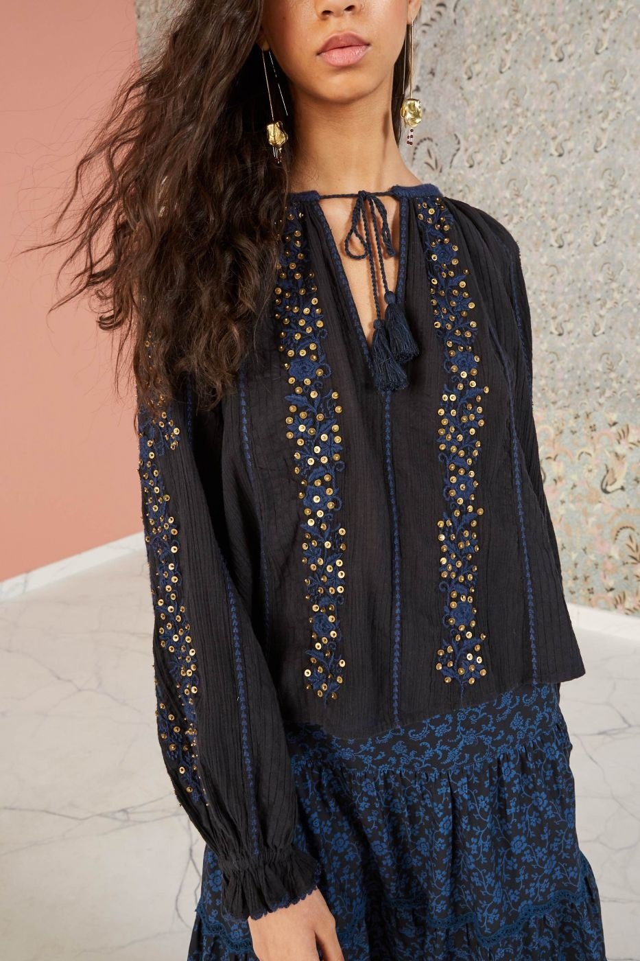 Rima blouse Midnight