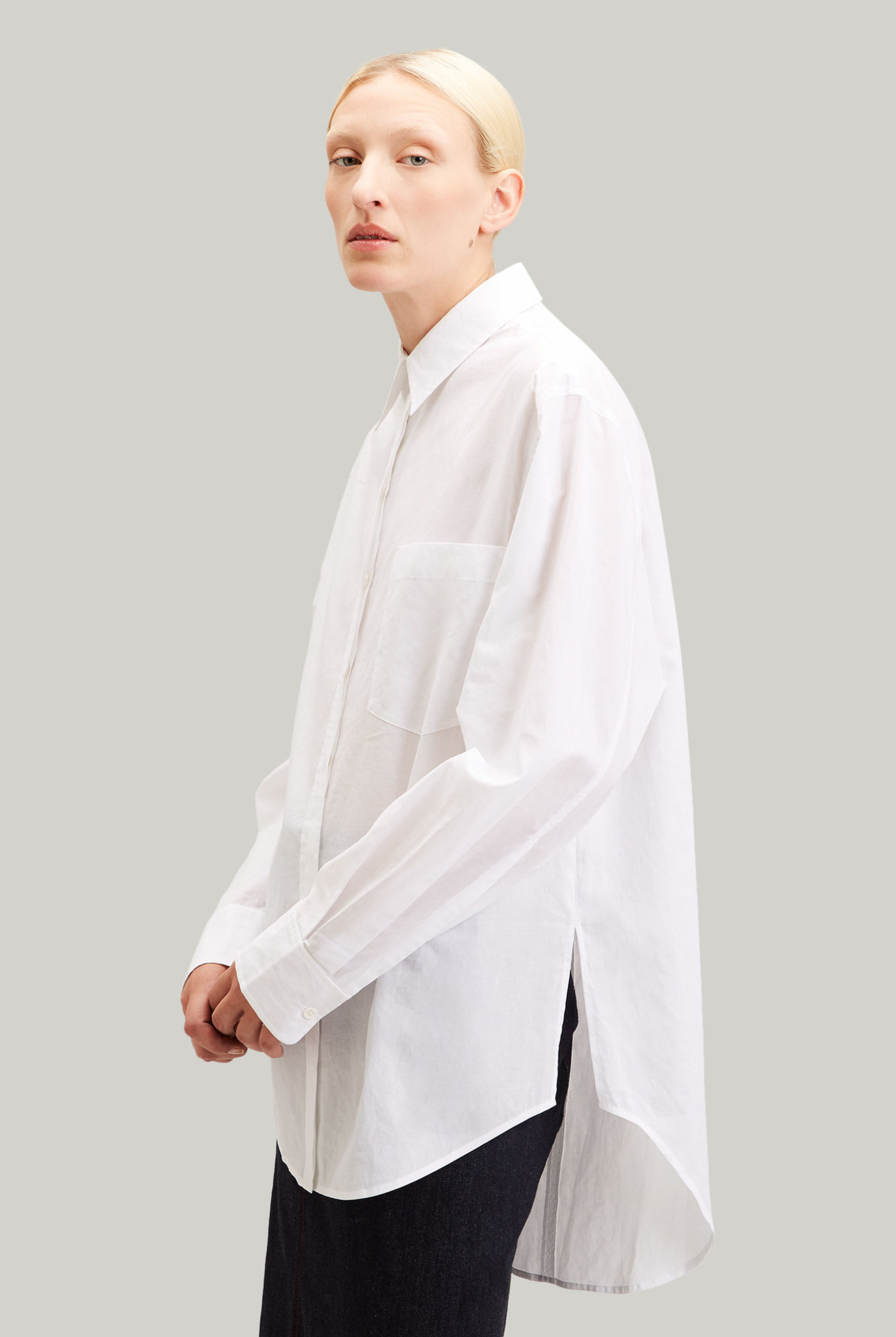 Gibson blouse white poplin