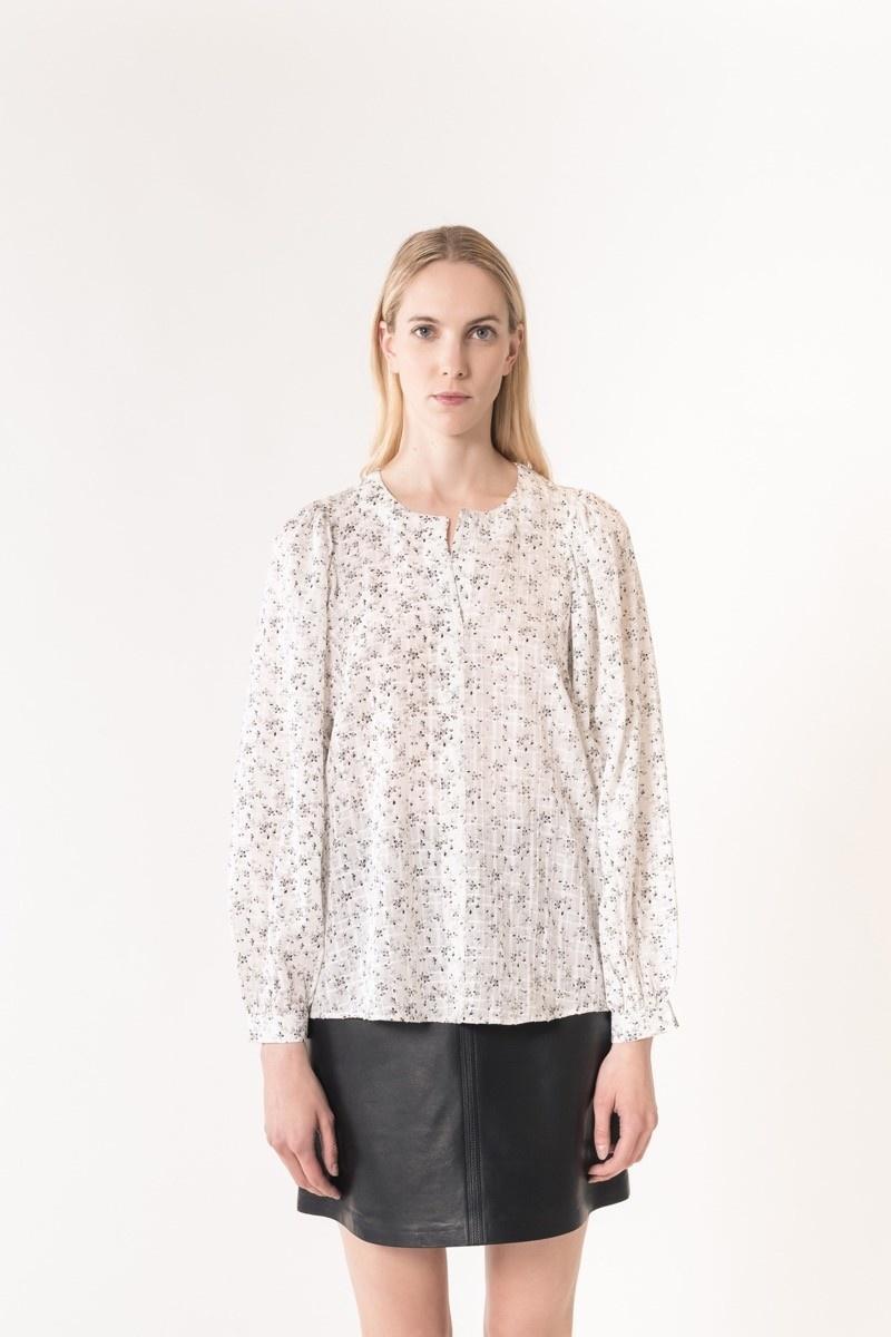 Leny blouse ivory/black