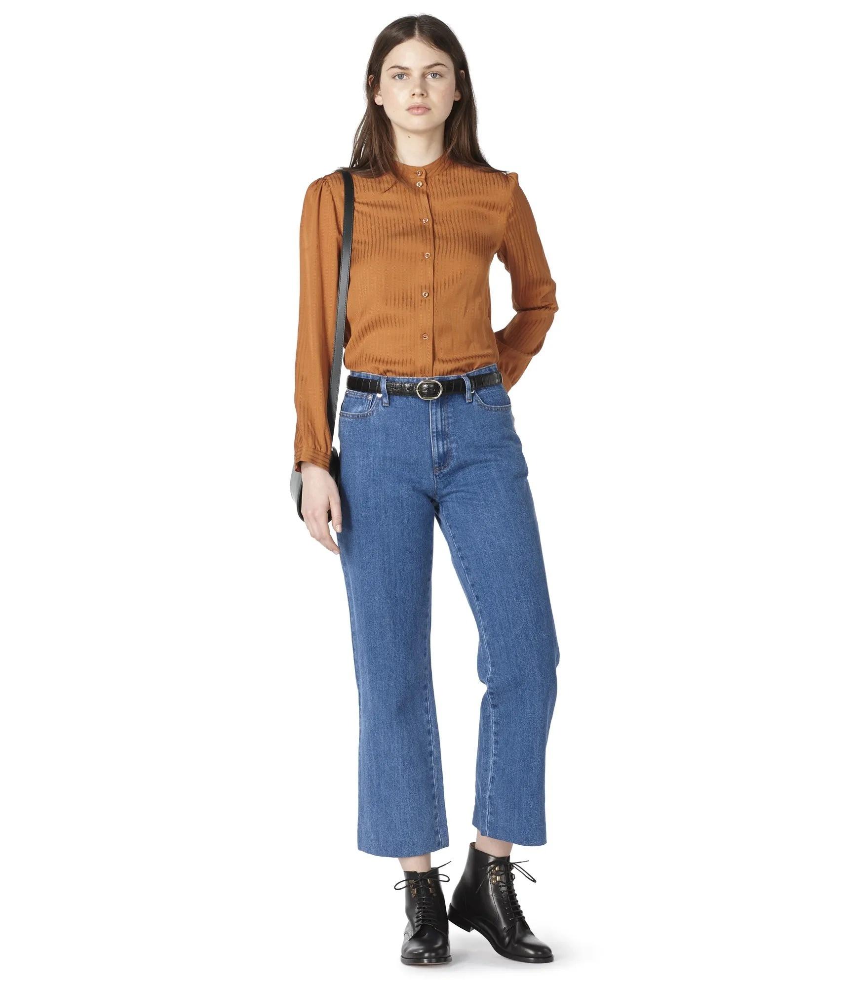 Aline blouse caramel