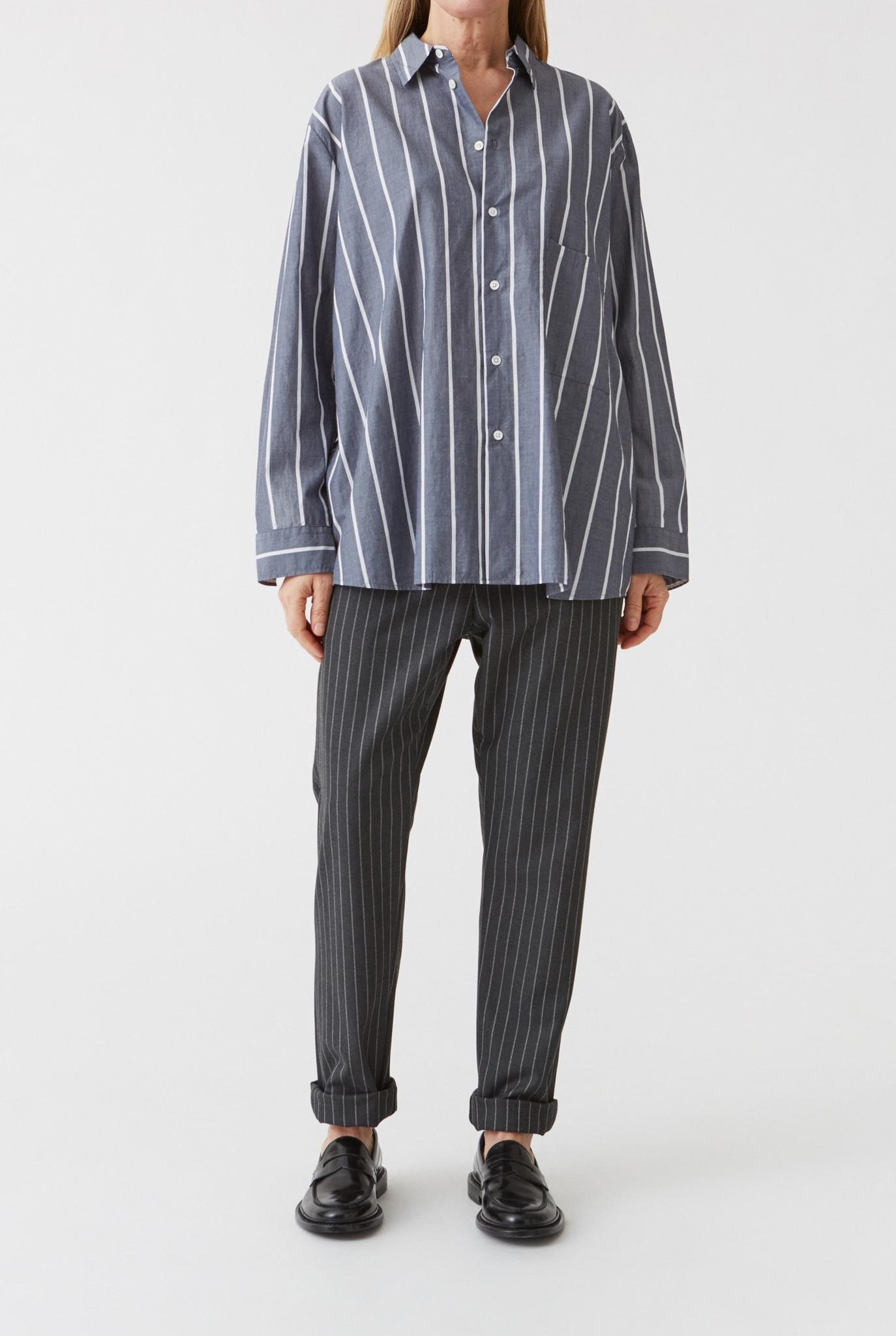 Elma shirt dk navy stripe