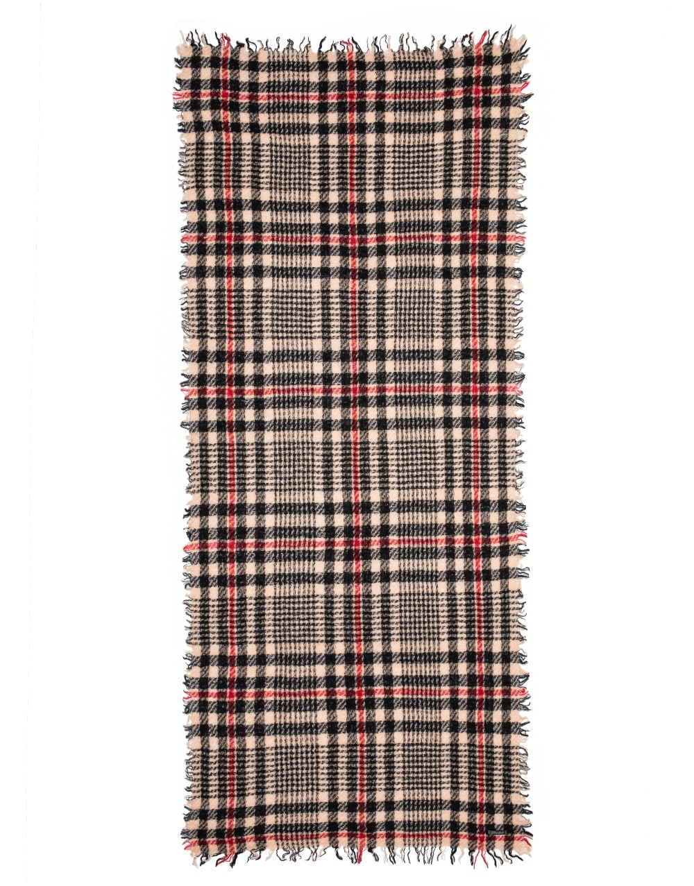 Mark scarf check beige red